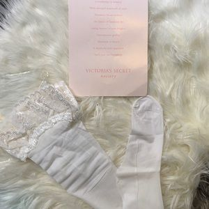 Victoria Secret stocking hosiery sz D white lace